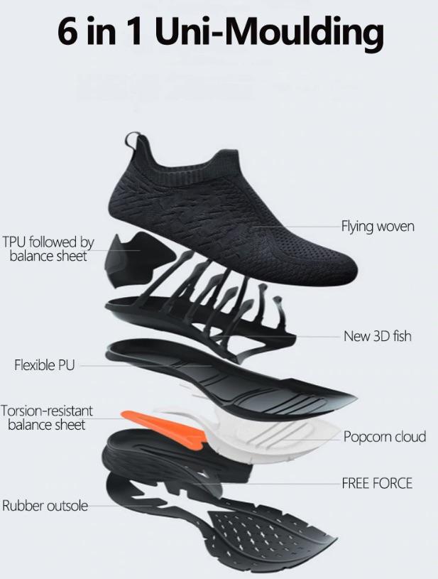 Xiaomi Mijia Fishbone Sneaker 3 Sohle Zusammensetzung