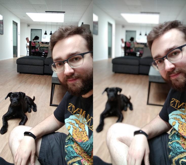 Redmi 7A Frontkamera Testfoto Portrait Vergleich