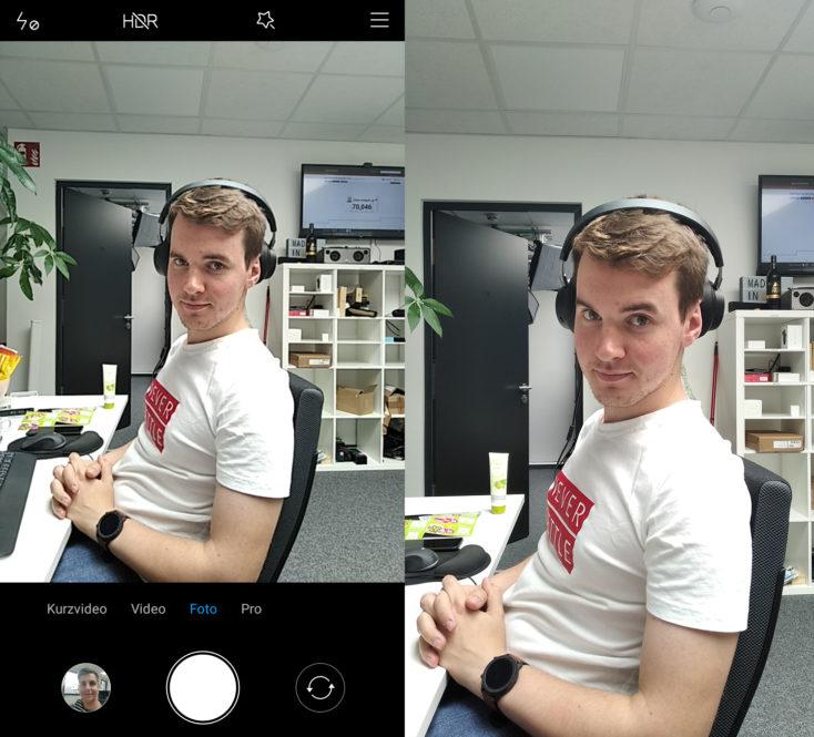 Xiaomi Redmi 7A Kamera-App Vergleich Foto