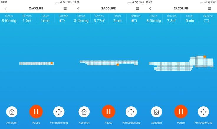 ZACO A9S Saugroboter App Mapping
