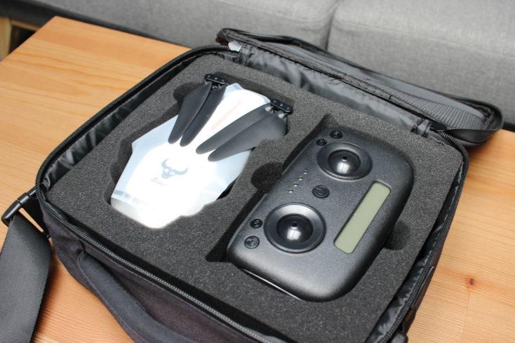 ZLRC Beast Drohne Stofftasche geöffnet