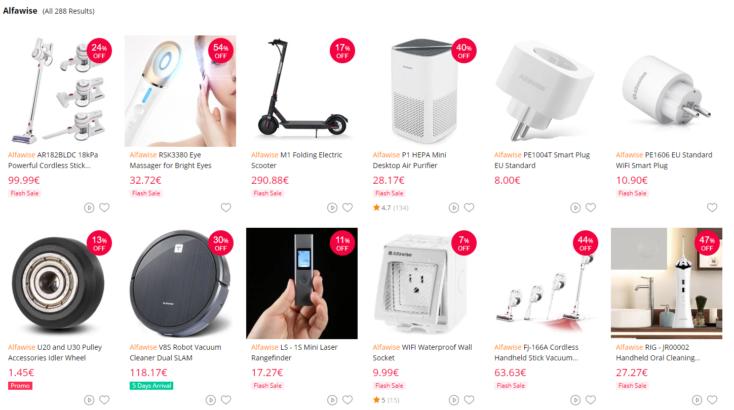 Alfawise Portfolio: Inzwischen schon 288 China-Gadgets im Sortiment