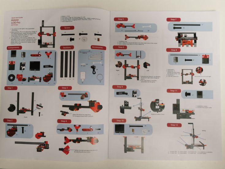 Alfawise U30 Pro 3D Drucker Anleitung: Zu viele Schritte auf einmal?