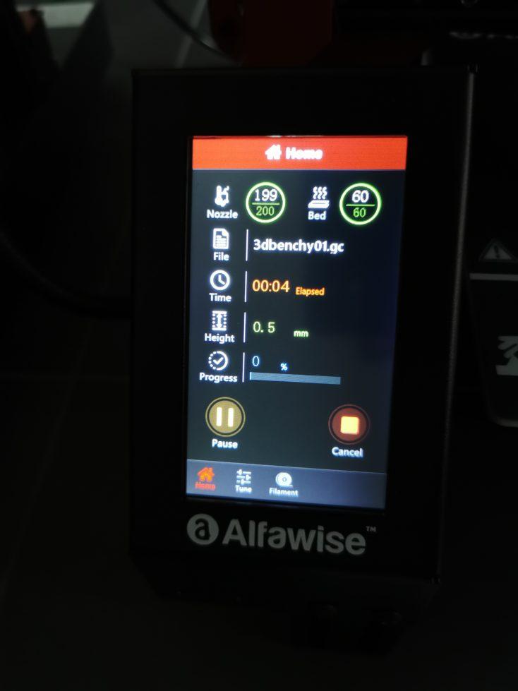 Alfawise U30 Pro 3D Drucker Display