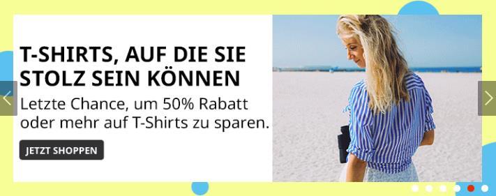 Stolz auf T-Shirts Werbebanner