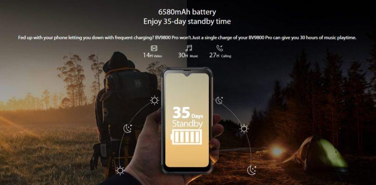 Blackview BV 9800 Pro battery