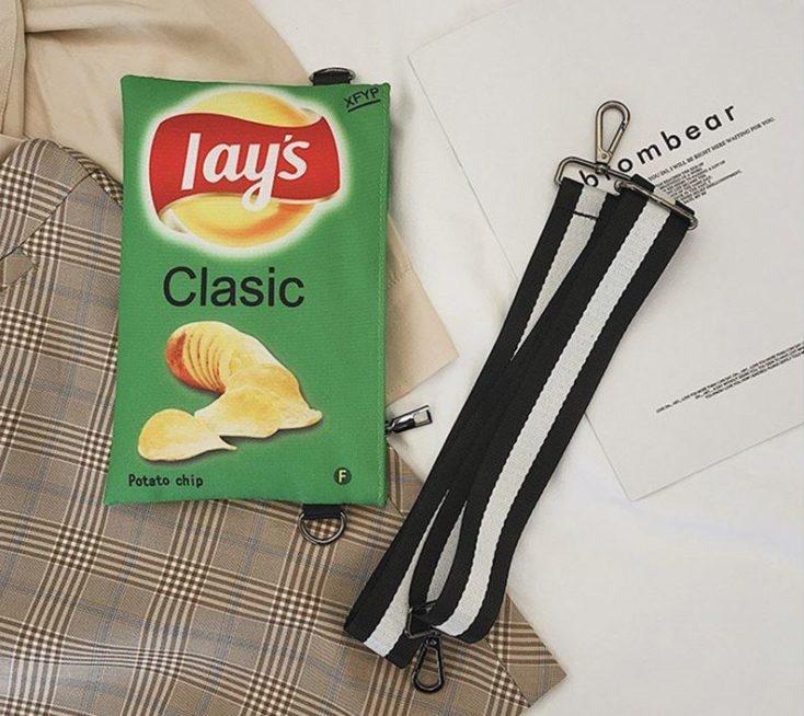 Chips Handtasche Einzelteile