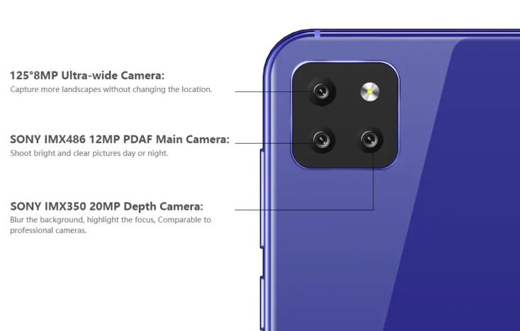 Cubot X20 Pro Triple-Kamera