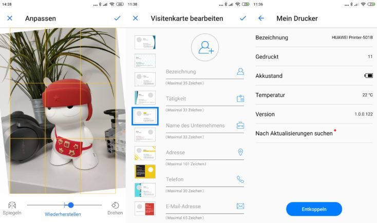 Huawei Printer App Screenshots