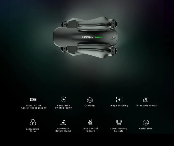 Hubsan Zino Pro Drohne technische Daten