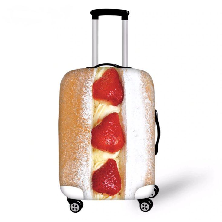 Koffer mit Erdbeergebäck
