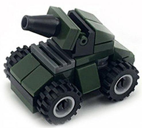 Mini Militärfahrzeuge mit Kanone