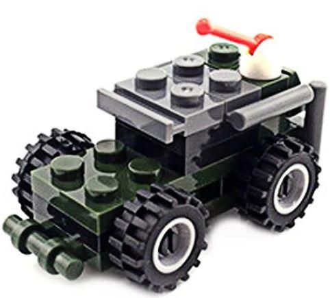 Mini Militärfahrzeuge rote Antenne