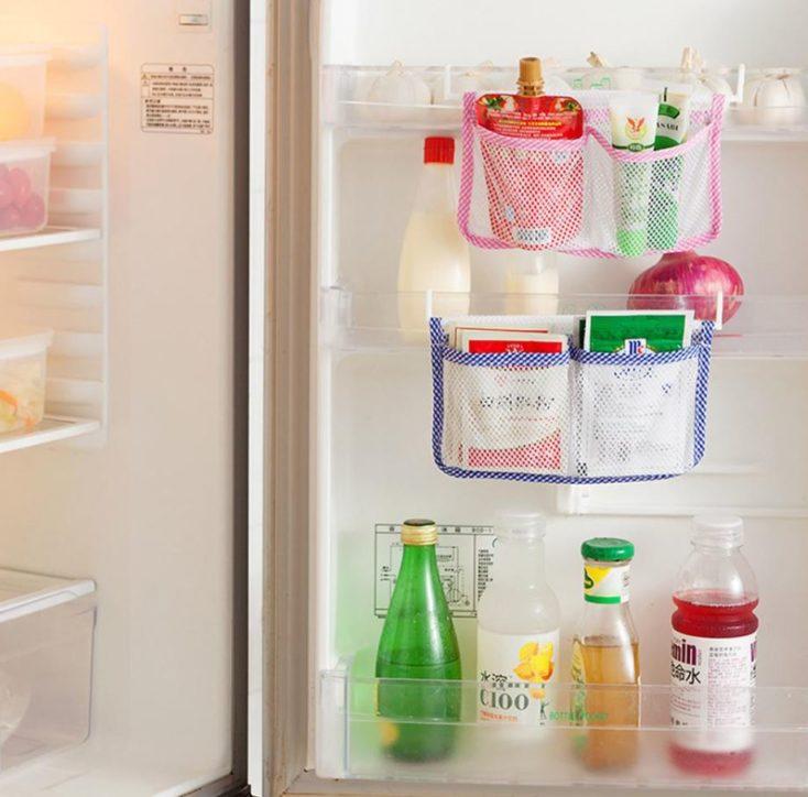 Netztasche-Kühlschrank Taschen voll