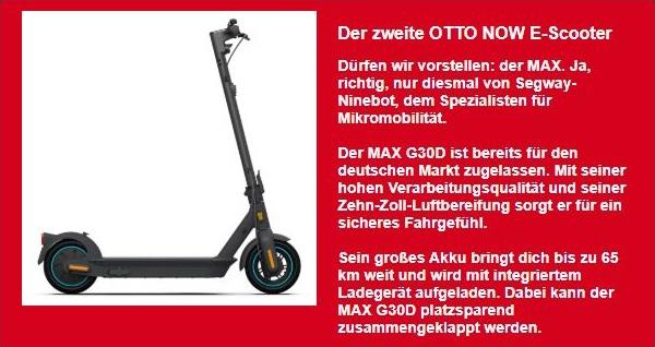OTTO NOW Ninebot MAX G30D Ankündigung