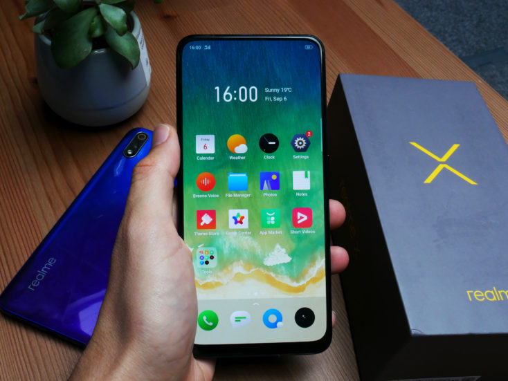 Realme X Smartphone Display in Hand_2