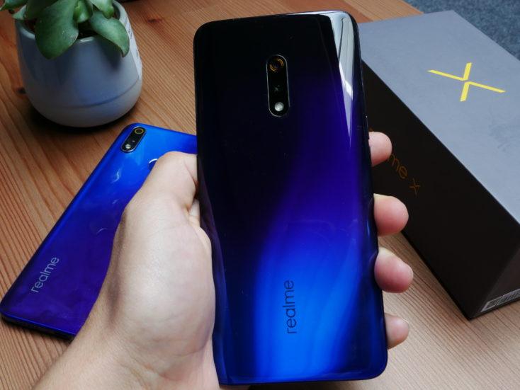 Realme X Smartphone Rückseite