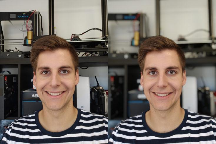 Redmi Note 8 Pro Frontkamera Testfoto Portraitmodus Vergleich