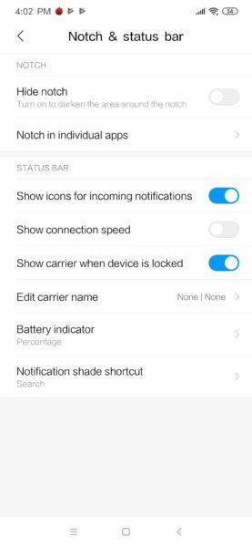Redmi Note 8 Pro MIUI Einstellungen