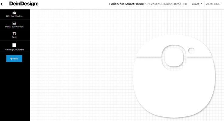 DeinDesign Ecovacs Deebot Ozmo 950 Saugroboter Sticker selbst gestalten