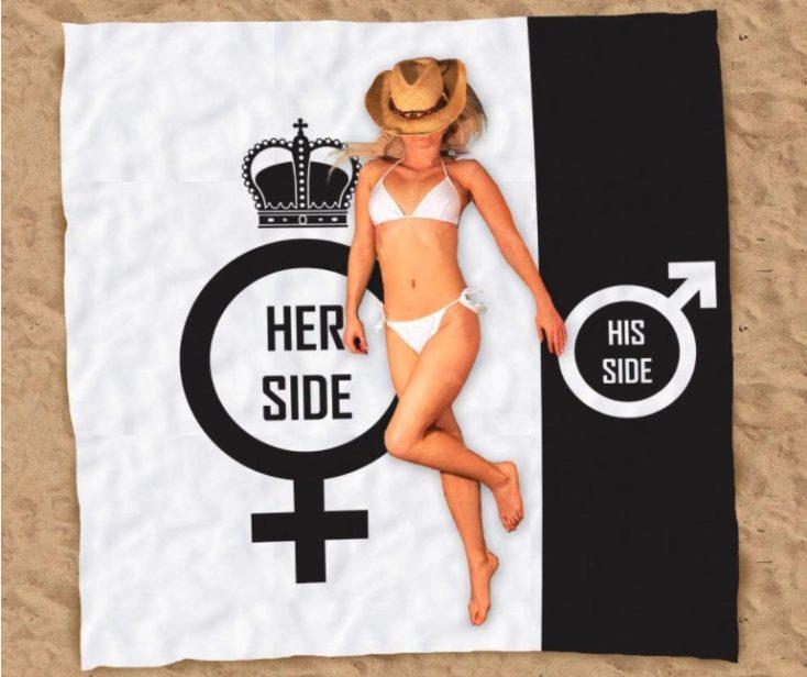 His Side Her Side Strandtuch