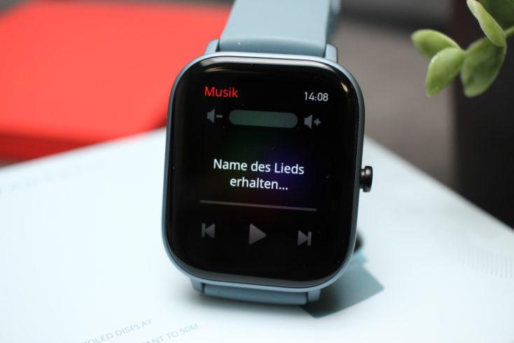 Huami Amazfit GTS Smartwatch Musiksteuerung
