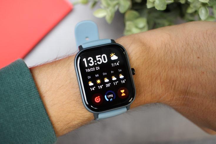 Huami Amazfit GTS Smartwatch am Arm