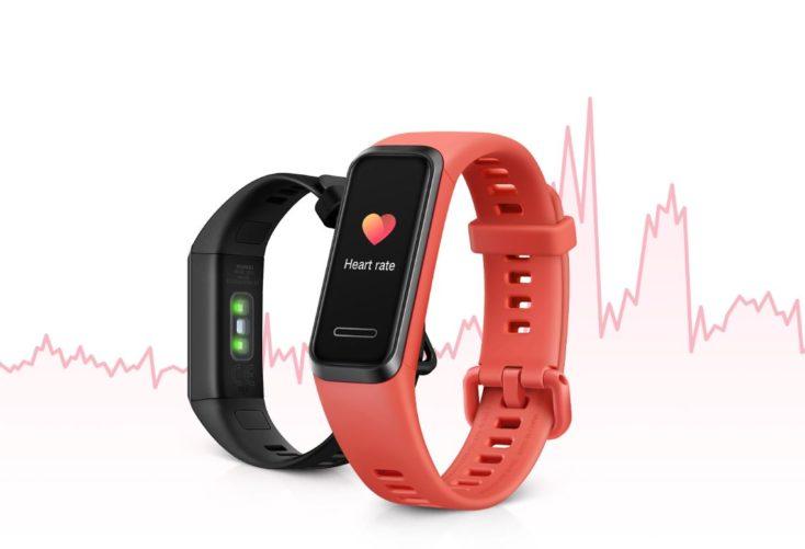 Huawei Band 4 Herzfrequenzdiagramm.
