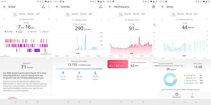 Huawei Watch GT 2 Schlaf Schritte Puls Stress