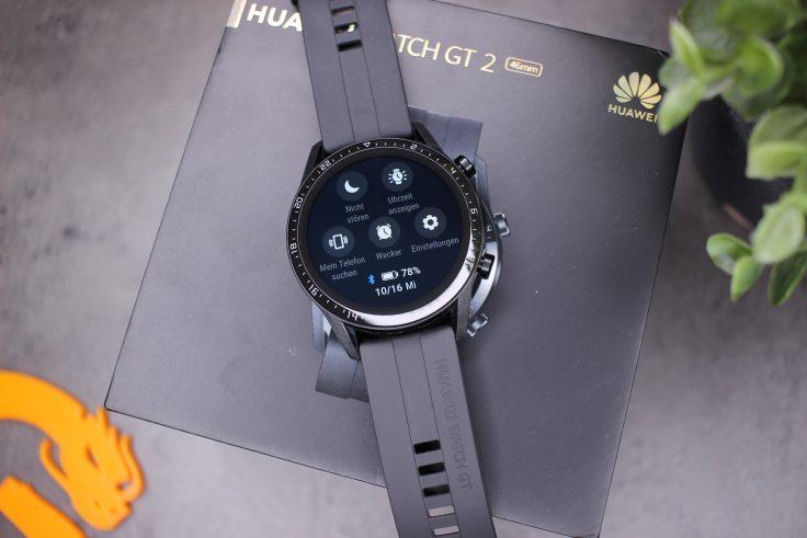 Huawei Watch GT 2 Schnelleinstellungen