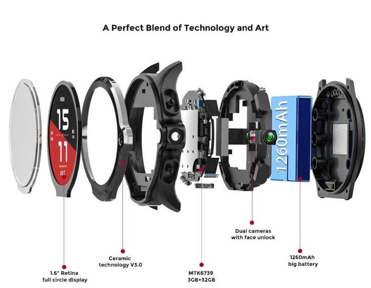 Kospet Prime 4G Smartwatch Innenleben