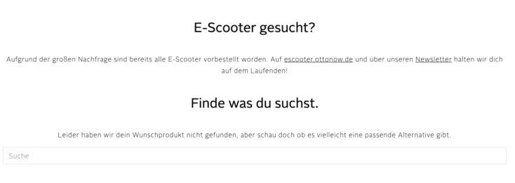 OTTO Now E Scooter Ende