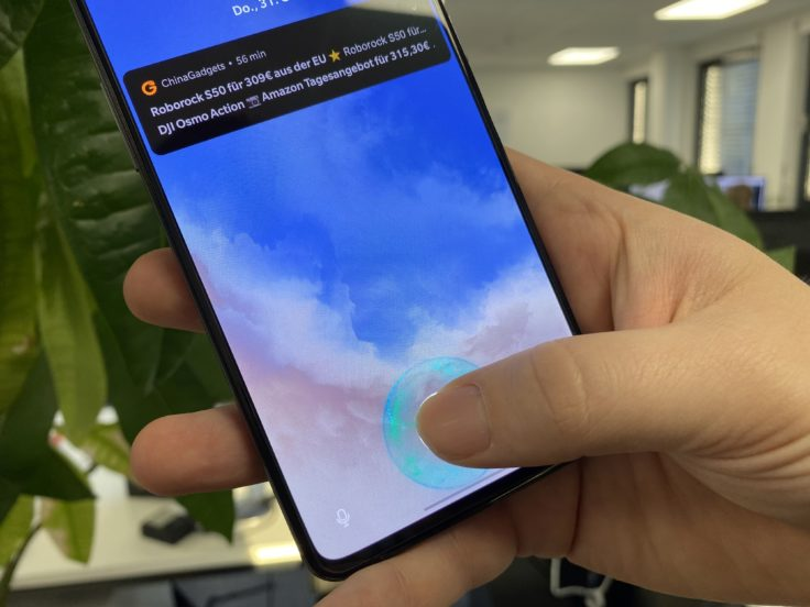 OnePlus 7T Fingerabdrucksensor