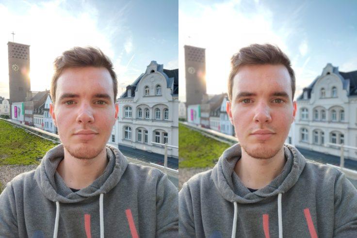OnePlus 7T Selfie Dach Bokeh