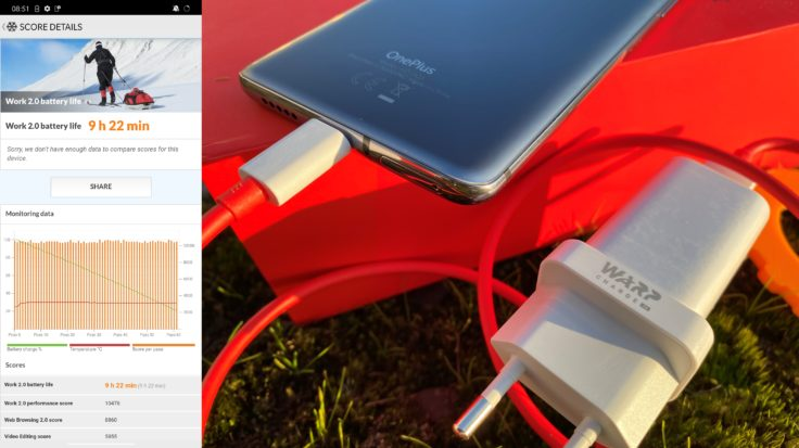 OnePlus 7T Warp Charge 30T Akku