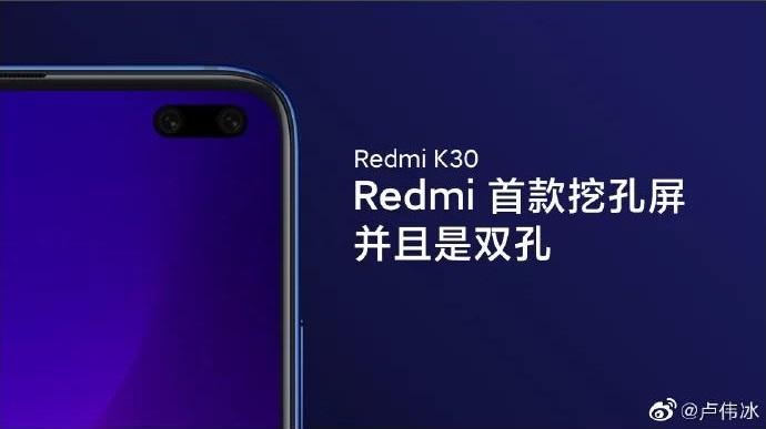 Redmi K30 Smartphone Punch Hole Kamera