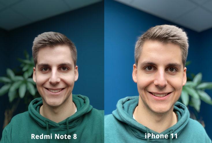 Redmi Note 8 Frontkamera Testfoto Portrait Vergleich