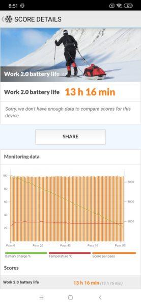 Redmi Note 8 Smartphone Akkubenchmark