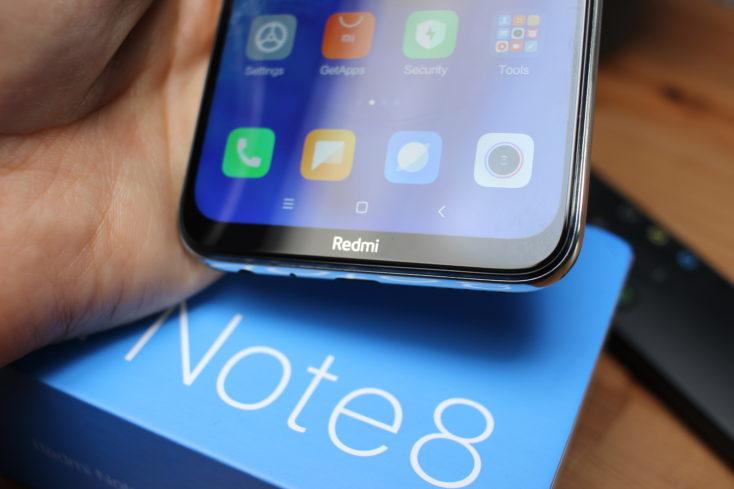 Redmi Note 8 Smartphone Bildschirmrand Redmi Branding