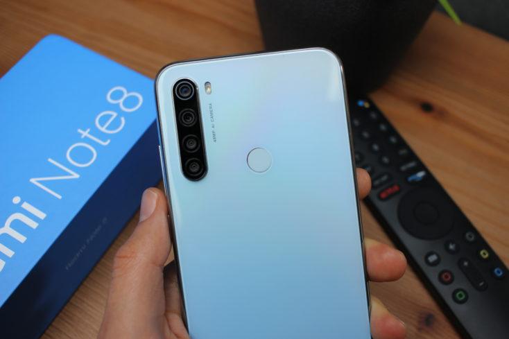Redmi Note 8 Smartphone Rückseite oben