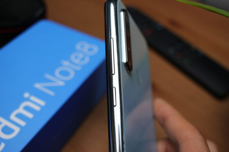 Redmi Note 8 Smartphone Tasten Seite