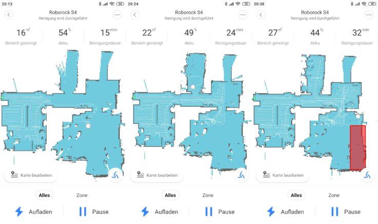 Roborock S4 Saugroboter App Mapping