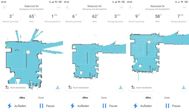 Roborock S4 Saugroboter App Mapping Beginn