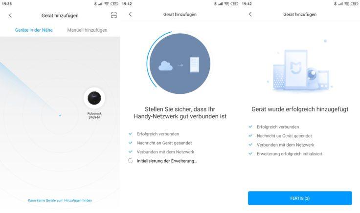 Roborock S4 Saugroboter App WLAN-Verbindung