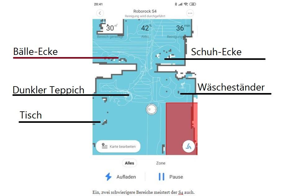 Roborock S4 Saugroboter App Mapping Schwierigkeiten