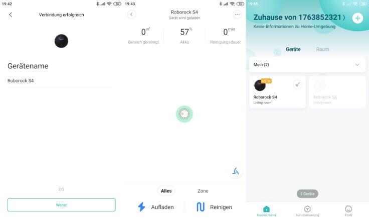 Roborock S4 Saugroboter App WLAN Verbindung