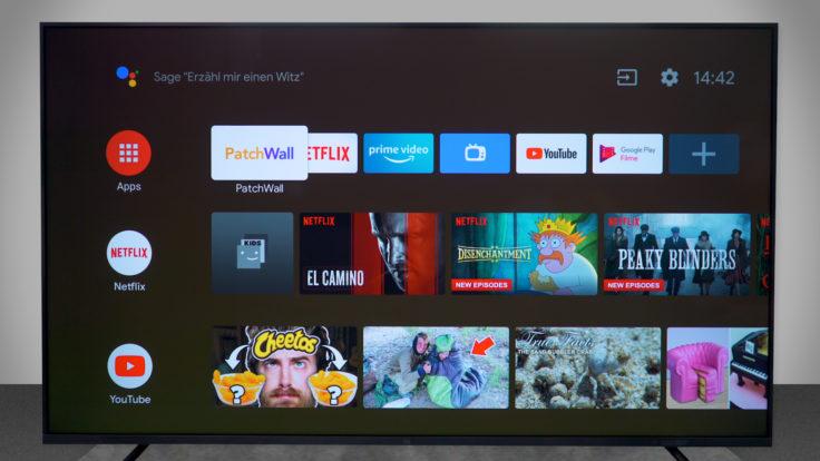 Xiaomi Mi TV 4S Android-Oberfläche