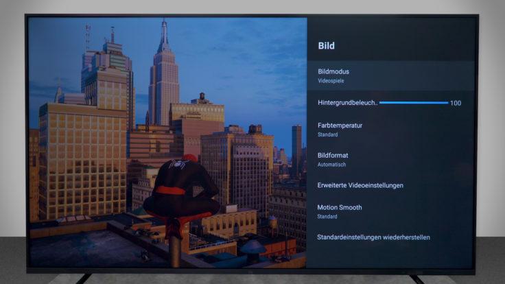 Xiaomi Mi TV 4S Bildmodus-Videospiele