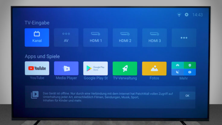 Xiaomi Mi TV 4S Patchwall