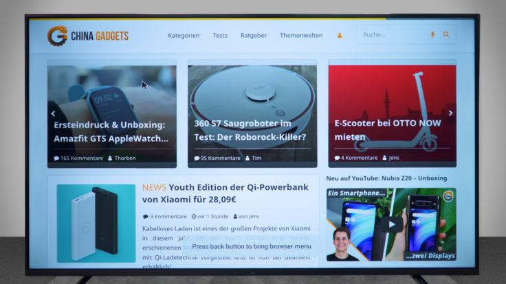 Xiaomi Mi TV 4S Puffin Browser